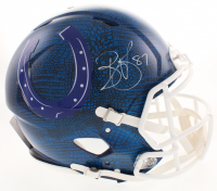 Reggie Wayne Signed Indianapolis Colts Full-Size Authentic On-Field Hydro Dipped Speed Helmet (Beckett COA)