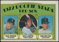 1972 Topps #79 Rookie Stars Mike Garman / Cecil Cooper RC / Carlton Fisk RC