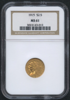 1915 $2.50 Indian Quarter Eagle Gold Coin (NGC MS 61)