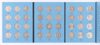 1948-1963 Franklin Silver Half-Dollars Complete Set Booklet of (36) Coins with 1964 Kennedy Silver Half-Dollar