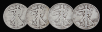 Lot of (4) Walking Liberty Silver Half-Dollars with 1917, 1934, 1939-D, & 1943