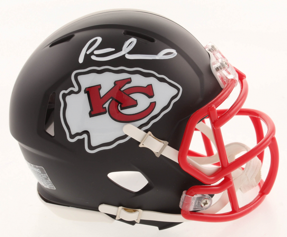 3cc9c7c5836 Patrick Mahomes Signed Kansas City Chiefs Matte Black Speed Mini Helmet (JSA  COA) at