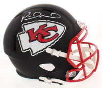 Patrick Mahomes Signed Kansas City Chiefs Full-Size Matte Black Speed Helmet (JSA COA)
