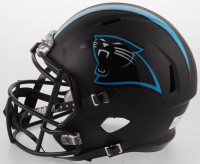Luke Kuechly Signed Carolina Panthers Full-Size Custom Matte Black Speed Helmet (JSA COA) at PristineAuction.com