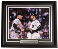 Derek Jeter & Cal Ripken Jr. Signed 22x27 Custom Framed Photo Display (Steiner & MLB Hologram)