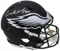 "Carson Wentz Signed Philadelphia Eagles Matte Black Full-Size Authentic On-Field Helmet Inscribed ""AO1"" (Fanatics Hologram)"