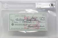Vince Lombardi Signed 1968 Personal Bank Check - Filled out by Hand (BGS Encapsulated)