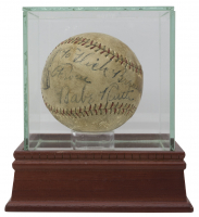 Babe Ruth Signed Baseball with High-Quality Display Case (JSA LOA)