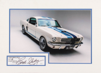 Carroll Shelby Signed 16x22 Custom Matted Cut Display (JSA COA)