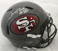 Jerry Rice Signed San Francisco 49ers Full-Size Hydro Dipped Speed Helmet (Beckett COA) at PristineAuction.com