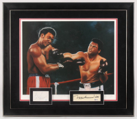 Muhammad Ali & George Foreman Signed 26.5x30.5 Custom Framed Cut Display (Beckett LOA & JSA COA)