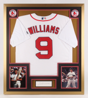 Ted Williams Signed Boston Red Sox 32x36 Custom Framed Cut with Jersey (PSA LOA)
