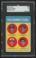 1963 Topps #537 Rookie Stars Pedro Gonzalez RC / Ken McMullen RC / Al Weis RC / Pete Rose RC (SGC 3)