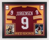 """Sonny Jurgensen Signed Washington Redskins 35x43 Custom Framed Jersey Inscribed """"HOF 83"""" (JSA COA)"""