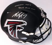 "Michael Vick Signed Atlanta Falcons Custom Matte Black Full-Size Speed Helmet Inscribed ""Madden Legend"" & ""Dual Threat GOAT"" (PSA Hologram)"