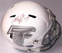Michael Vick Signed Atlanta Falcons White ICE Full-Size Speed Helmet (PSA COA)