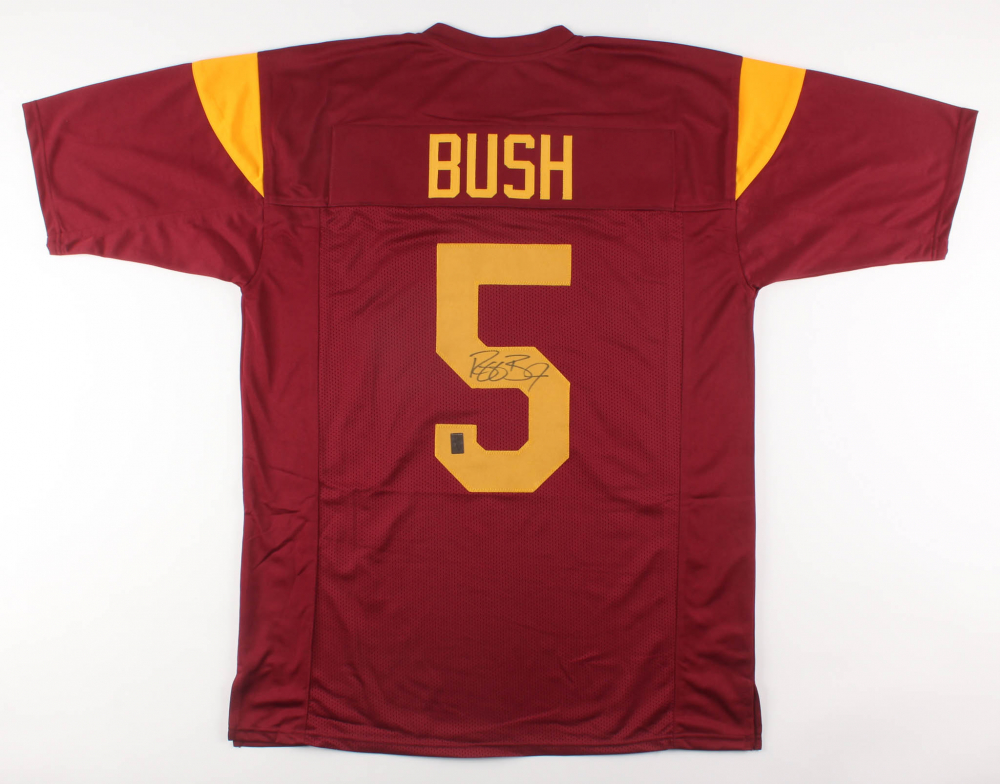 Reggie Bush Signed USC Trojans Jersey (Bush Hologram)   Pristine ...