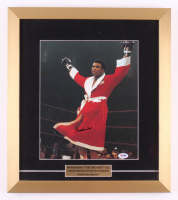Muhammad Ali Signed 16x18 Custom Framed Photo Display (PSA LOA)