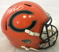 Mike Singletary Signed Chicago Bears Full-Size Hydro Dipped Speed Helmet (Beckett COA) at PristineAuction.com