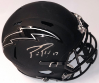 Philip Rivers Signed Los Angeles Chargers Custom Matte Black Full-Size Speed Helmet (Beckett COA)
