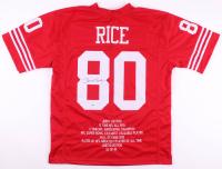 Jerry Rice Signed San Francisco 49ers Career Highlight Stat Jersey (PSA COA)