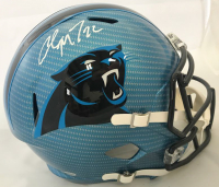 Christian McCaffrey Signed Carolina Panthers Full-Size Hydro Dipped Speed Helmet (Beckett COA) at PristineAuction.com