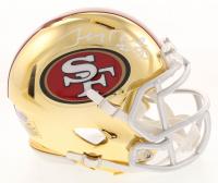Jerry Rice Signed San Francisco 49ers Chrome Speed Mini Helmet (Beckett COA)