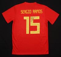 Sergio Ramos Signed Spain Jersey (Beckett COA)