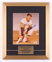 Ted Williams Signed Boston Red Sox 14x17 Custom Framed Photo Display (PSA LOA)