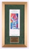 Larry Bird Signed 10x18.5 Custom Framed Original Boston Garden LeRoy Neiman Ticket (Bird Hologram)