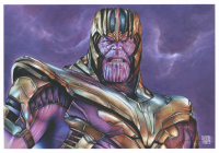 Thang Nguyen - Thanos - The Avengers - 8x12 Signed Limited Edition Giclee on Fine Art Paper #/50 at PristineAuction.com