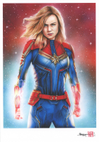 Thang Nguyen - Captain Marvel - Brie Larson - 8x12 Signed Limited Edition Giclee on Fine Art Paper #/25 at PristineAuction.com