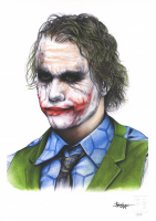 "Thang Nguyen - Heath Ledger ""Joker"" Batman 8x12 Signed Limited Edition Giclee on Fine Art Paper #/50"