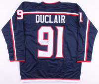 Anthony Duclair Signed Columbus Blue Jackets Jersey (Beckett COA)