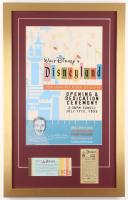 Disneyland 17x27 Custom Framed Vintage Poster Print Display with Vintage Ticket Booklet & Parking Pass