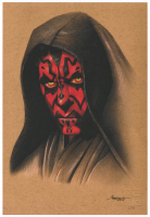 "Thang Nguyen - Darth Maul ""Star Wars"" 8x12 Signed Limited Edition Giclee on Fine Art Paper #/50 at PristineAuction.com"