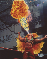 "Ricky Steamboat Signed WWE 8x10 Photo Inscribed ""The Dragon"" & ""HOF 2009"" (Beckett COA)"