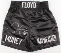 """Floyd Mayweather Jr. Signed """"Money Mayweather"""" Boxing Trunks (Beckett COA)"""