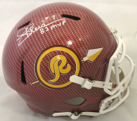 "Joe Theismann Signed Washington Redskins Full-Size Hydro Dipped Speed Helmet Inscribed ""83 MVP"" (Beckett COA)"
