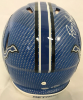 Barry Sanders Signed Detroit Lions Full-Size Authentic On-Field Hydro Dipped Speed Helmet (Beckett COA & Schwartz Hologram) at PristineAuction.com