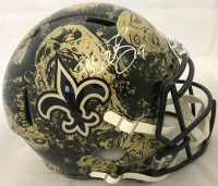 Drew Brees Signed New Orleans Saints Full-Size Hydro Dipped Speed Helmet (Beckett COA)