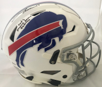 "Josh Allen Signed Buffalo Bills Full-Size Authentic On-Field Speedflex Helmet Inscribed ""Let's Smash Some Tables"" (Beckett COA)"