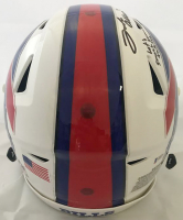 "Josh Allen Signed Buffalo Bills Full-Size Authentic On-Field Speedflex Helmet Inscribed ""Let's Smash Some Tables"" (Beckett COA) at PristineAuction.com"