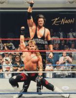 "Kevin Nash & Shawn Michaels Signed 11x14 Photo Inscribed ""HBK"" (JSA COA)"