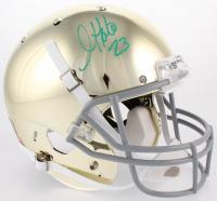 Golden Tate Signed Chrome Notre Dame Fighting Irish Full-Size Helmet (Beckett COA)