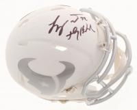 "Tyrann Mathieu Signed Houston Texans White ICE Mini Speed Helmet Inscribed ""Honey Badger"" (Beckett COA)"