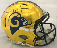 Clay Matthews Signed Los Angeles Rams Full-Size Chrome Speed Helmet (Fanatics Hologram)