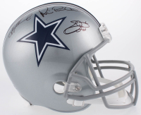 Emmitt Smith, Troy Aikman & Michael Irvin Signed Cowboys Full-Size Helmet (Becket COA) at PristineAuction.com