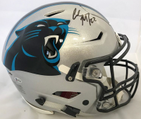 Christian McCaffrey Signed Carolina Panthers Full-Size Authentic On-Field Speedflex Helmet (Beckett COA)