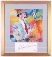 "LeRoy Neiman ""Frank Sinatra"" Signed 18x20 Custom Framed Cut Display (PSA COA)"